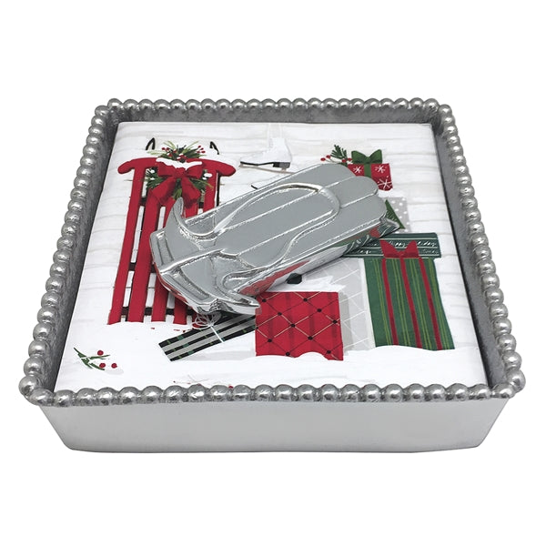 Double Runner Sled Napkin Box
