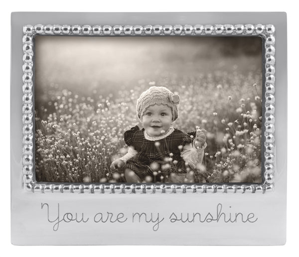 You Are My Sunshine Beaded 4x6 Frame