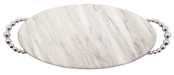 Pearled Long Oval Marble Platter