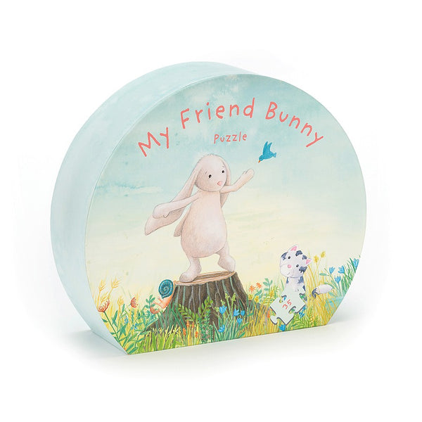 Mt friend bunny puzzle game on a white background.