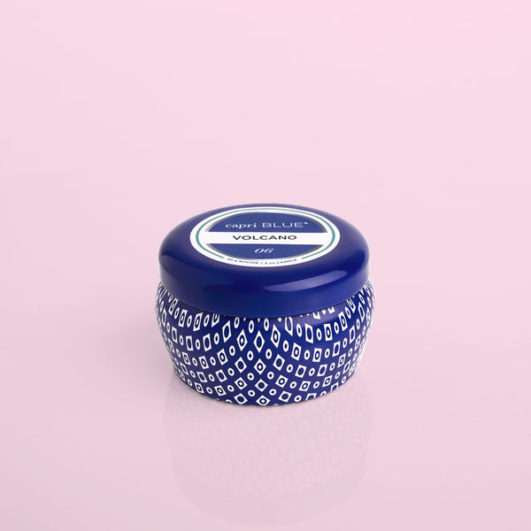Volcano Blue Mini Tin Candle
