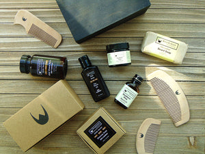 Natural grooming products, gift sets, combs, and shaving care