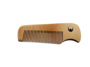 Pocket size wooden comb
