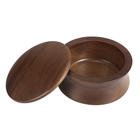 Dark Wood Shave Bowl