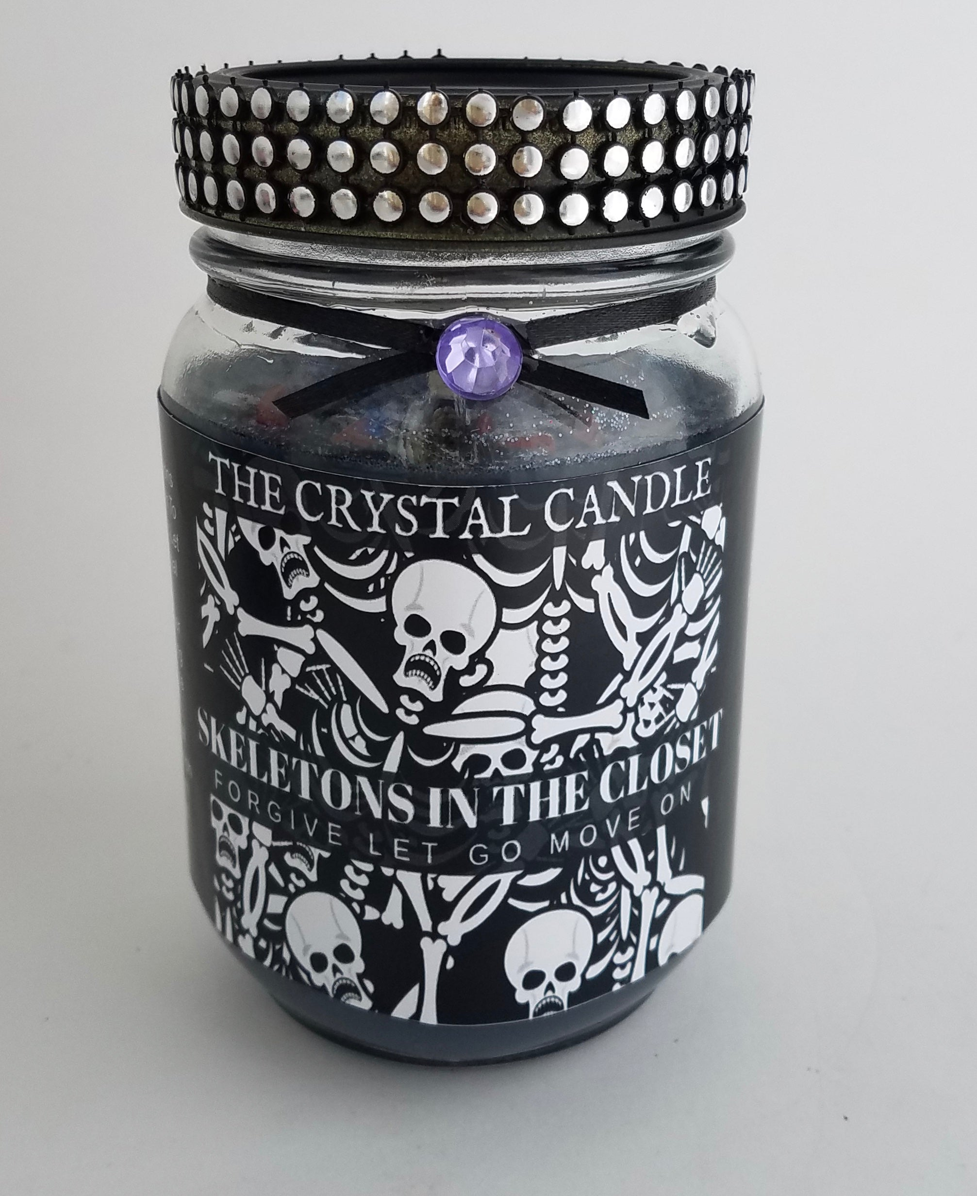 Skeletons In The Closet Crystal Candle To Remove Your Emotional Baggage