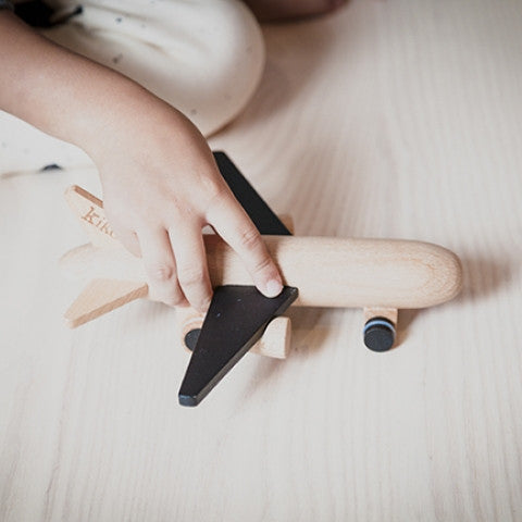 Hikoki Jet - Wooden Wind-up Plane