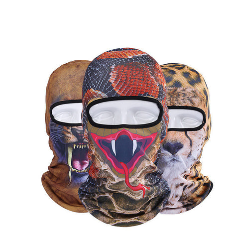 Balaclava 3D Animal Face Mask Outdoor Sports Cap