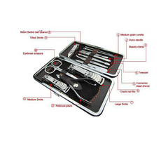 12 PCS/set Nail Art Manicure Set w/ case