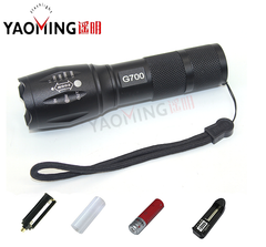 10W LED Zoomable Tactical Flashlight