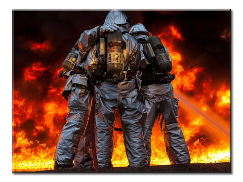 3 Firefighters - 1 panel xl