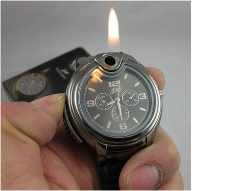 Refillable Military Lighter Watch
