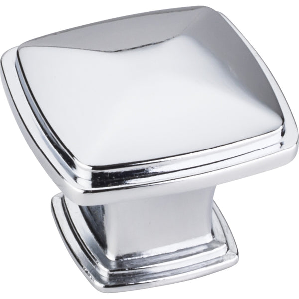 "1-3/16"" Zinc Die Cast Square Plain Cabinet Knob Various Finishes - DecorativeResources.com"