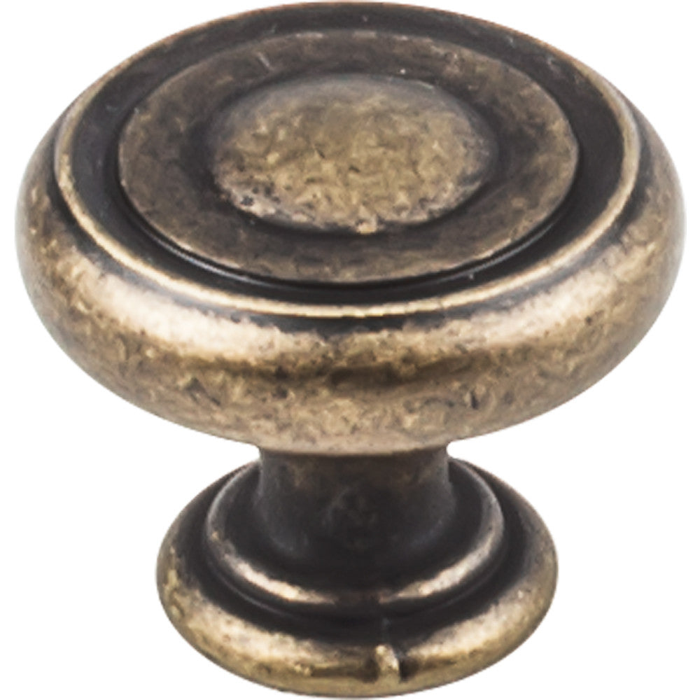 "1-1/4"" Button Round Decorative Cabinet Knob Various Finishes - DecorativeResources.com"