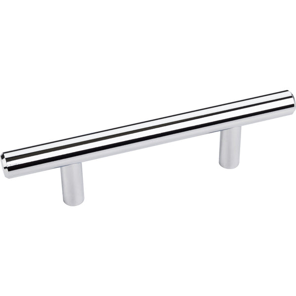 136mm Bar Round Plain Cabinet Pull with Beveled Ends Various Finishes - DecorativeResources.com