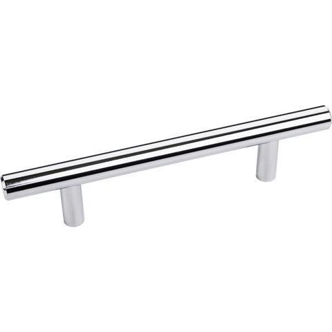 156mm Bar Round Plain Cabinet Pull with Beveled Ends Various Finish - DecorativeResources.com