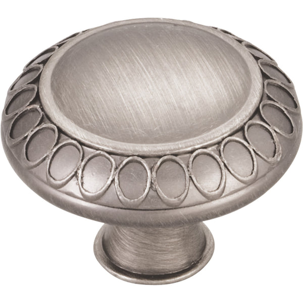 "1-3/8"" Art Deco Round Decorative Knob Various Finishes - DecorativeResources.com"