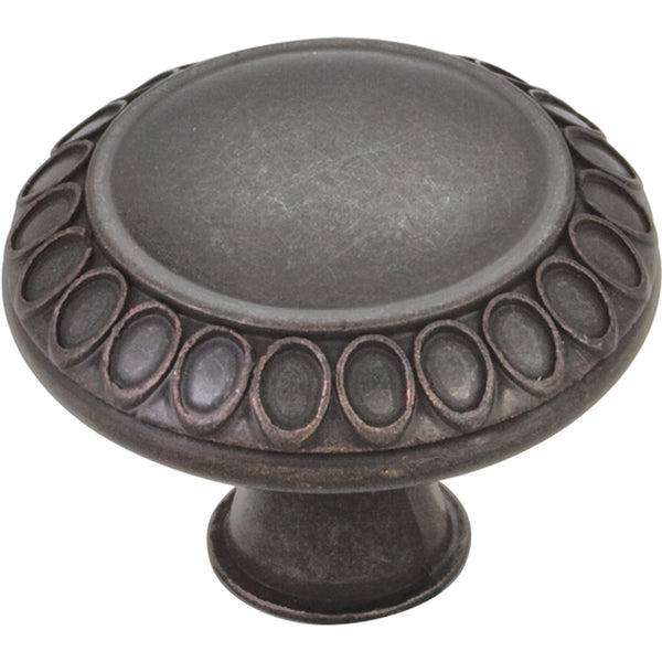 "1-3/8"" Art Deco Round Decorative Knob Various Finishes"