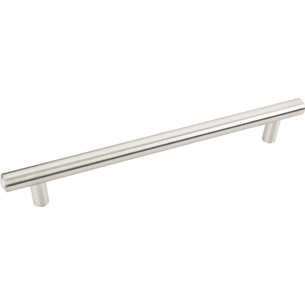 242mm Bar Round Plain Cabinet Pull Satin Nickel Finish - DecorativeResources.com