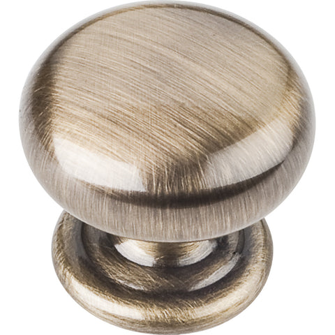 "1-1/4"" Diameter Zinc Die Cast Round Plain Cabinet Knob Various Finishes - DecorativeResources.com"