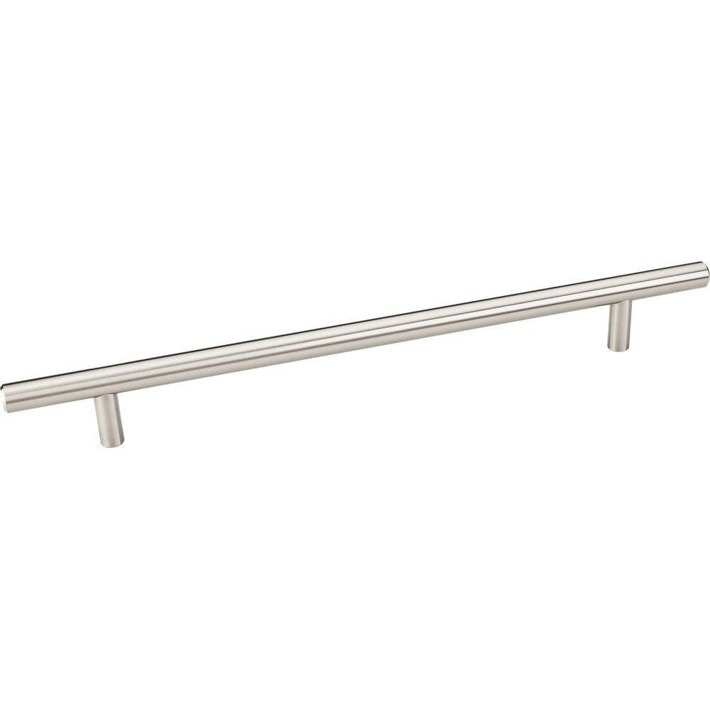302mm Bar Round Plain Cabinet Pull with Beveled Ends Stainless Steel Finish - DecorativeResources.com