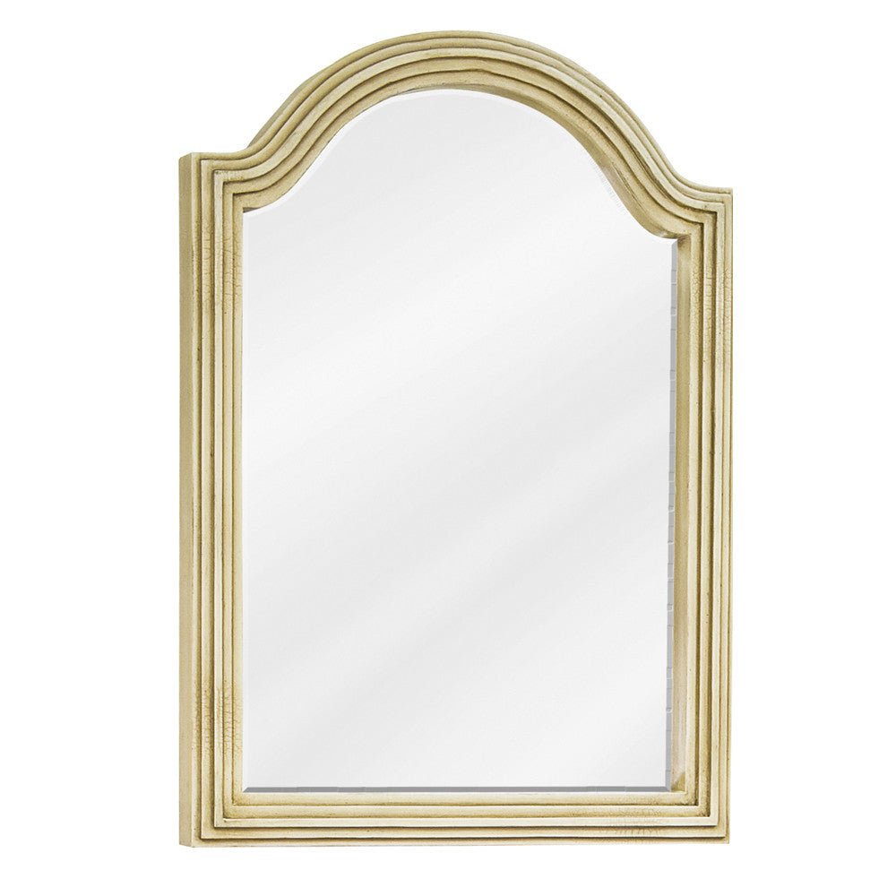 "22""W x 30""H Traditional Style Mirror Buttercream Finish"