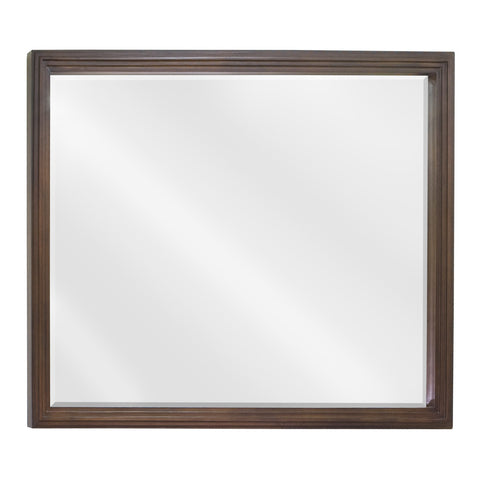 "44""W x 34""H Traditional Style Mirror Walnut Finish"