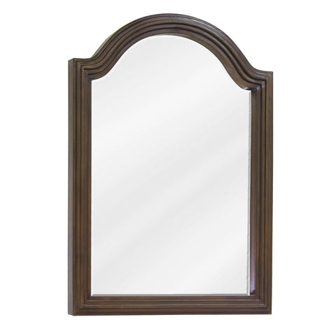 "22""W x 30""H Traditional Style Mirror Walnut Finish"