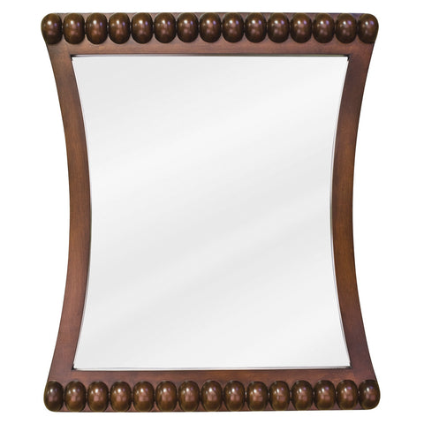 "24""W x 28""H Transitional Style Mirror Rosewood Finish"