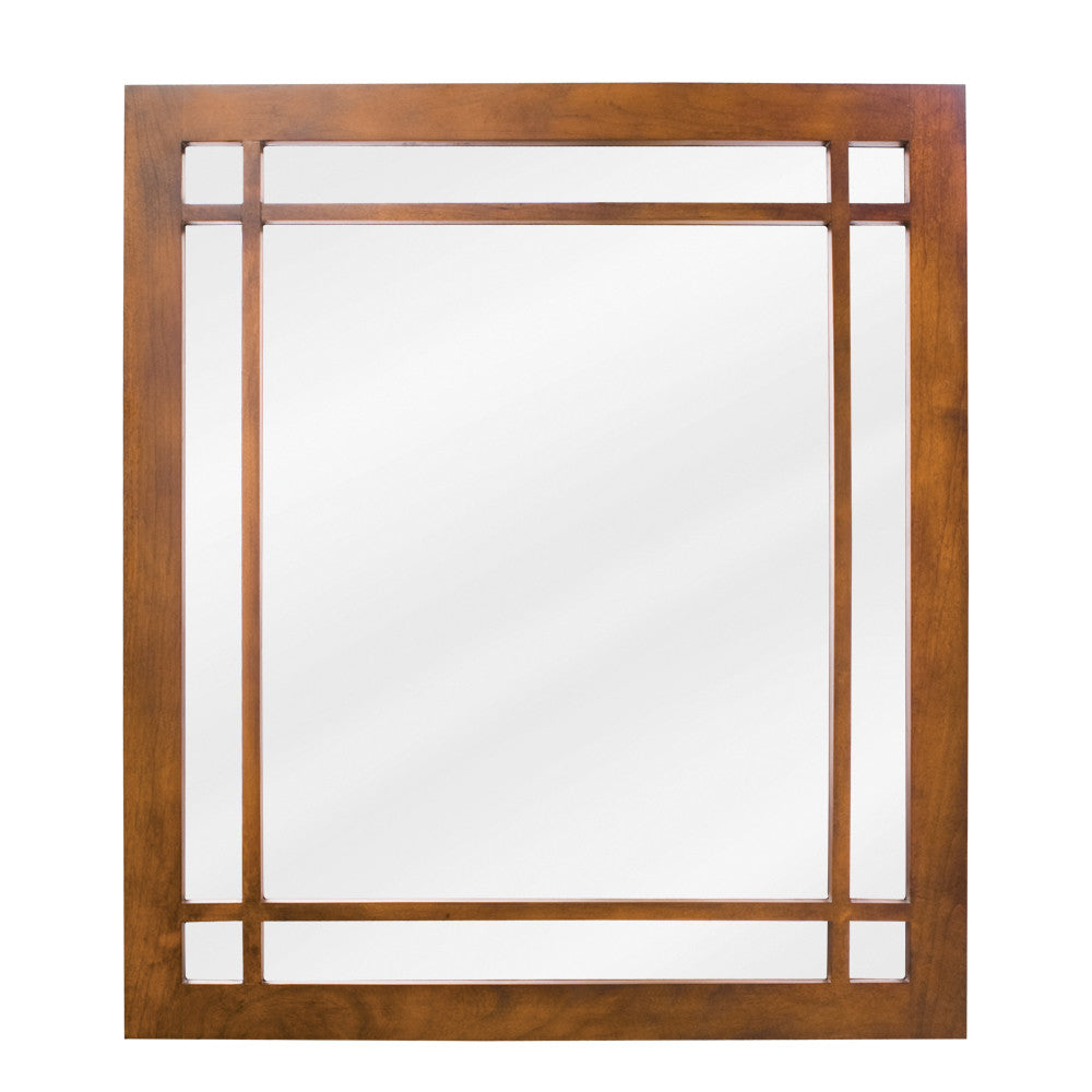 "21""W x 24""H Traditional Style Mirror Chestnut Finish"