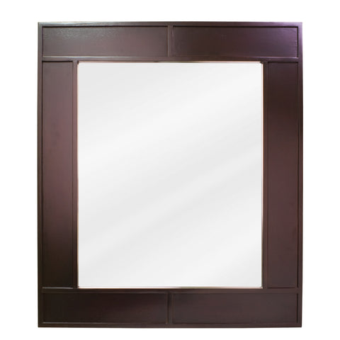 "26""W x 30""H Transitional Style Mirror Espresso Finish"