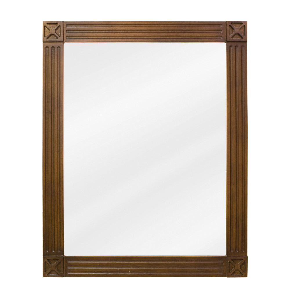 "20""W x 25""H Transitional Style Mirror Toffee Finish"