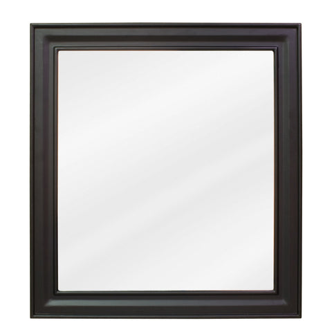"22""W x 24""H Transitional Style Mirror Black Finish"