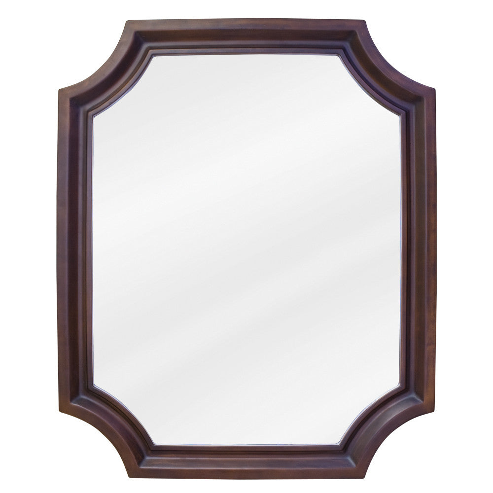 "22""W x 27""H Traditional Style Mirror Toffee Finish"