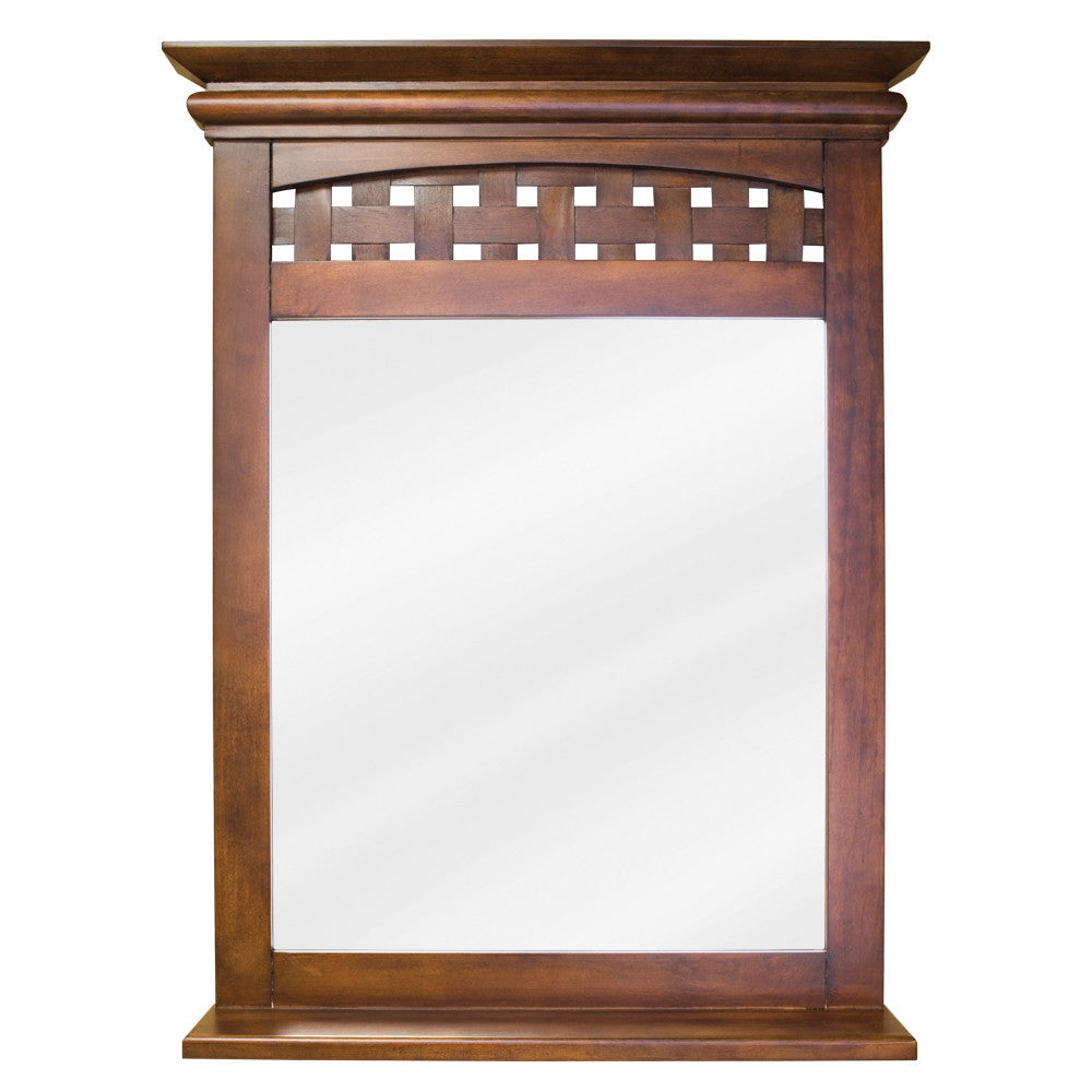 "26""W x 34-1/4""H Transitional Style Mirror Nutmeg Finish"