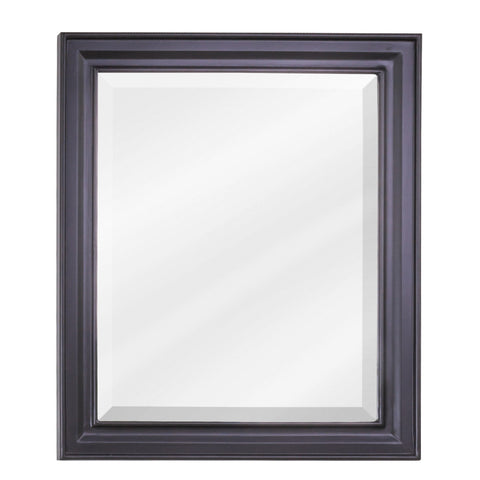"20""W x 24""H Transitional Style Mirror Black Finish"
