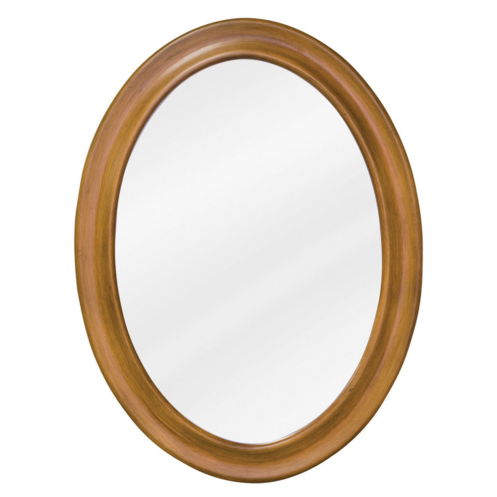"23-3/4""W x 31-1/2""H Traditional Style Mirror Caramel Finish"