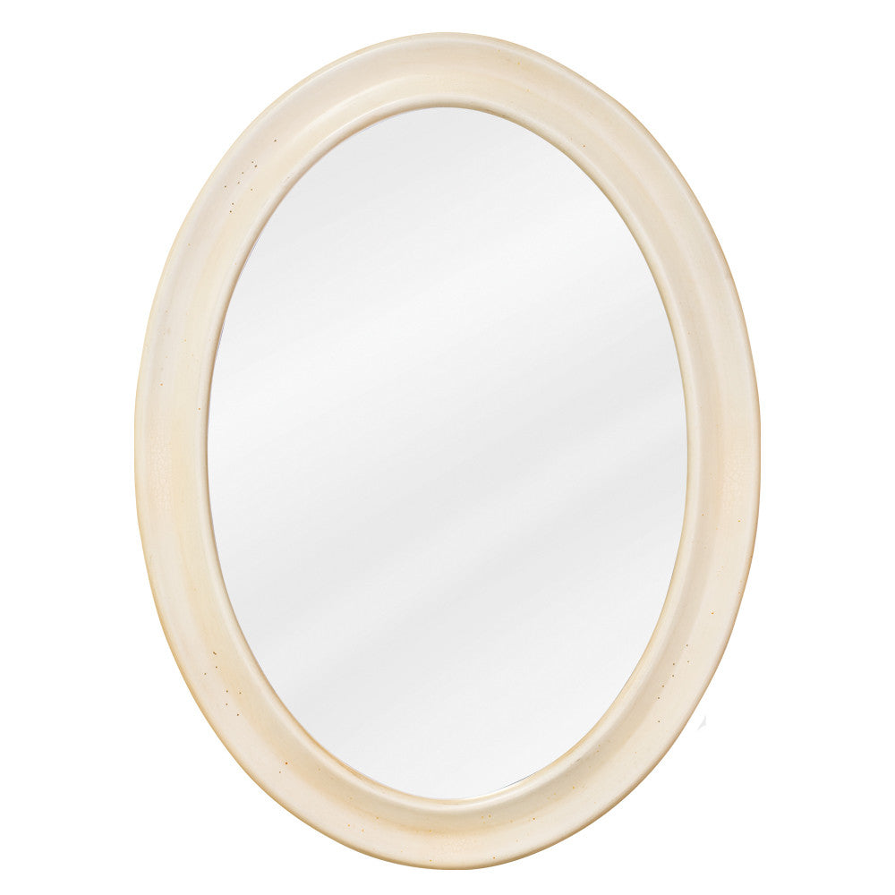 "23-3/4""W x 31-1/2""H Traditional Style Mirror Buttercream Finish"