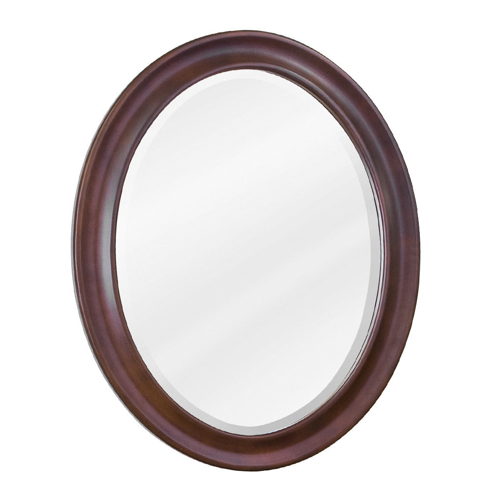 "23-3/4""W x 31-1/2""H Traditional Style Mirror Nutmeg Finish"