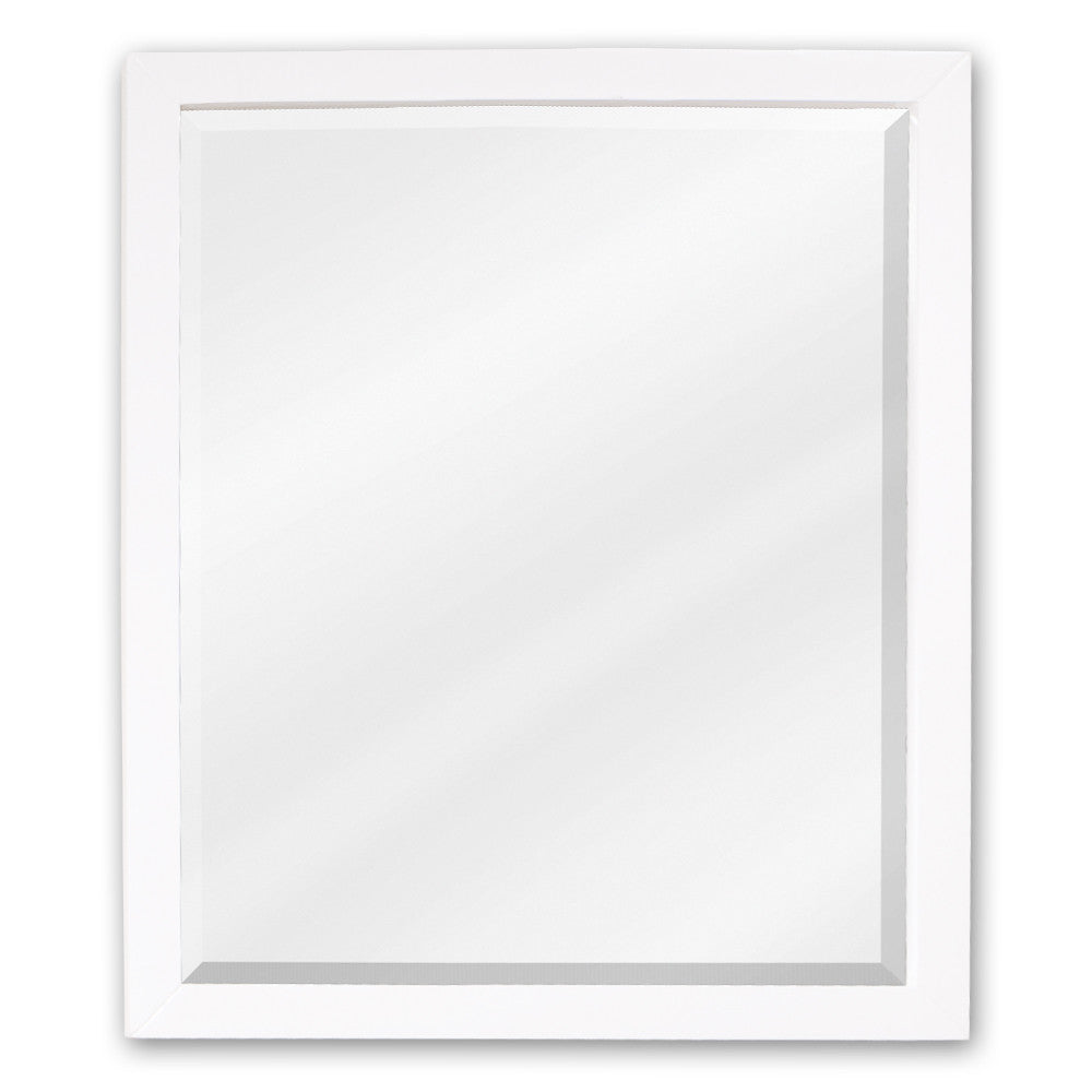 "24""W X 28""H Transitional Style Mirror White Finish"