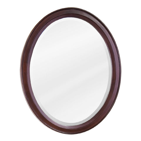 "22""W x 27-1/4""H Transitional Style Mirror Mahogany Finish"
