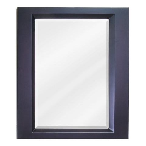 "23""W x 28""H Transitional Style Mirror Espresso Finish"