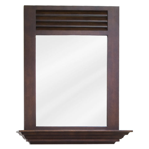 "25-1/2""W x 30""H Transitional Style Mirror Nutmeg Finish"