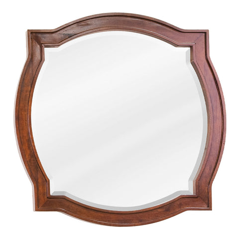 "26""W x 26""H Transitional Style Mirror Chocolate Brown Finish"