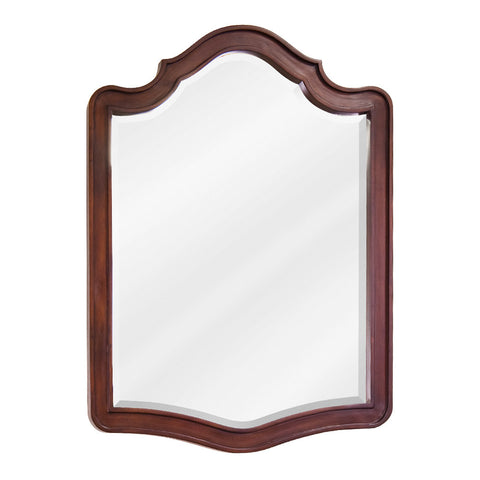 "26""W x 34""H Transitional Style Mirror Chocolate Brown Finish"