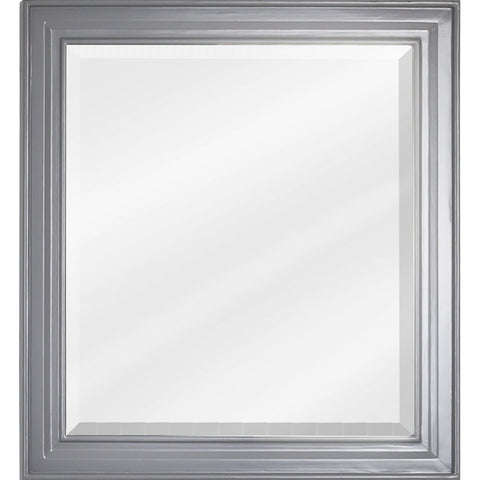 "22""W x 24""H Transitional Style Mirror Grey Finish"