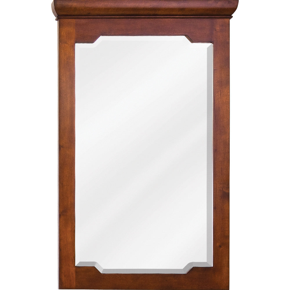 "22""W x 34""H Transitional Style Mirror Chocolate Finish"