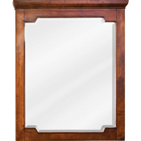 "28""W x 34""H Transitional Style Mirror Chocolate Finish"