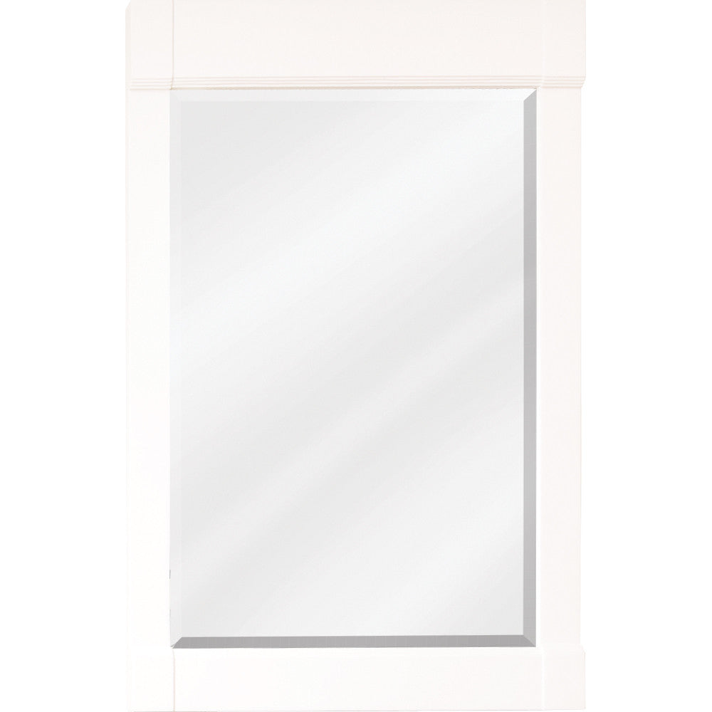 "22""W x 34""H Transitional Style Mirror Cream White Finish"