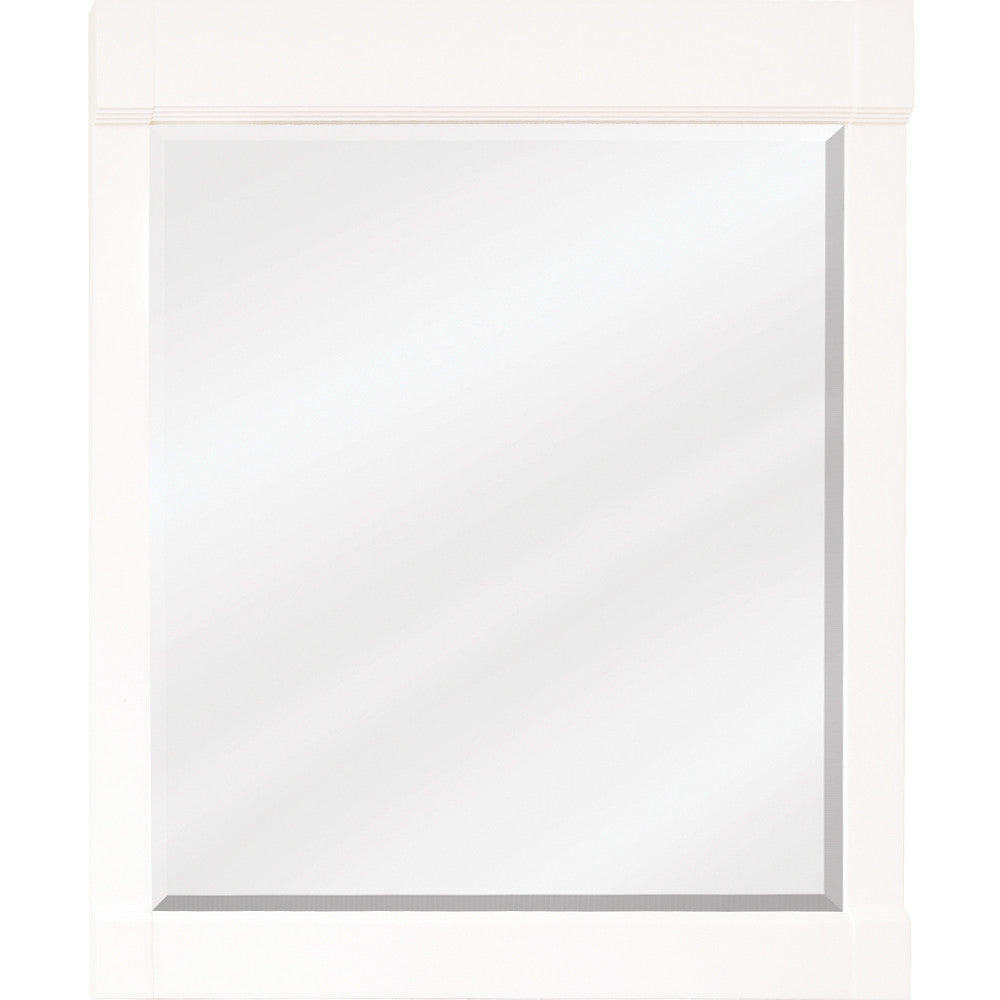 "28""W x 34""H Transitional Style Mirror Cream White Finish"
