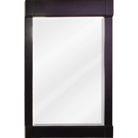 "22""W x 34""H Transitional Style Mirror Espresso Finish"